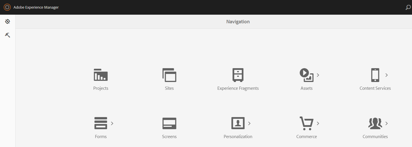 Restrict access to links in Global navigation panel – Adobe